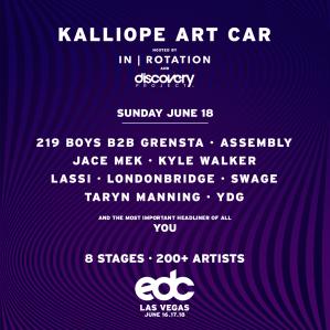 EDC Las Vegas 2017 Art Car Lineup Kalliope June 18