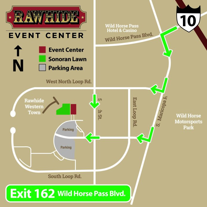 Rawhide Event Center Parking