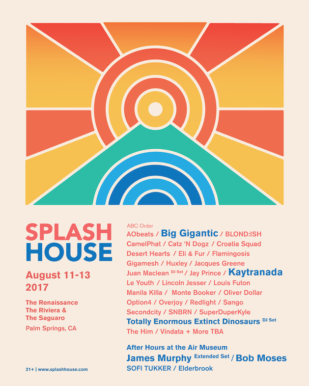 Splash House 2017 August Lineup
