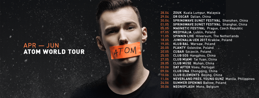 Tom Swoon Atom Tour