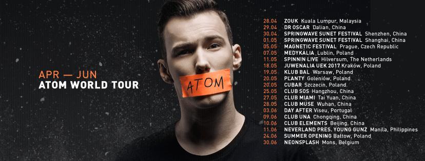 Tom Swoon Atom Tour
