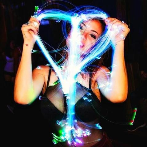 iEDM EDC Outfits Fiber Optic Space Whip