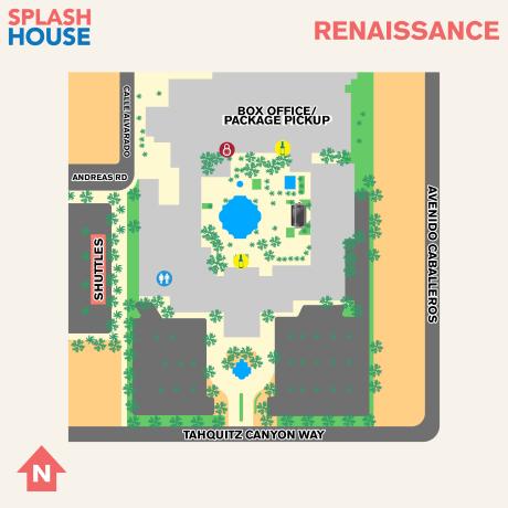 Splash House 2017 August Map Renaissance