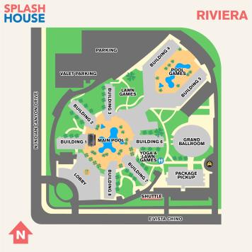 Splash House 2017 August Map Riviera