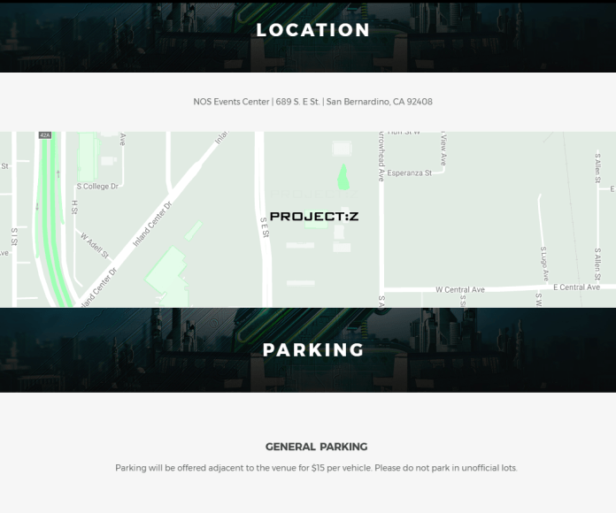 Project Z Map and Parking