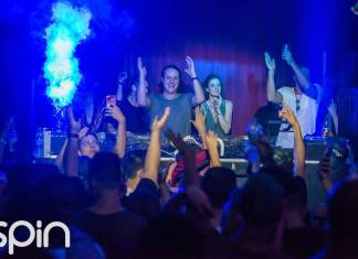 EDX rocking with the crowd at Spin San Diego