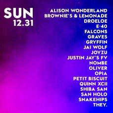 Snowglobe 2017 Sunday lineup