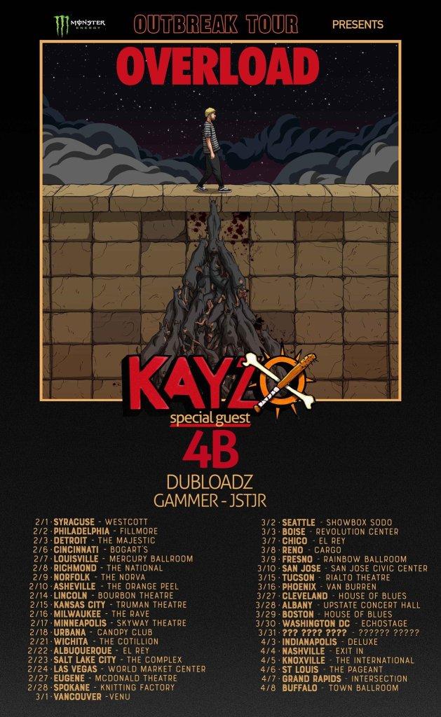 Kayzo Overload Tour Stops 2018