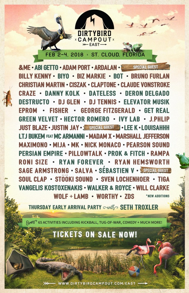 Dirtybird Campout East Coast 2018 Phase 2 Lineup