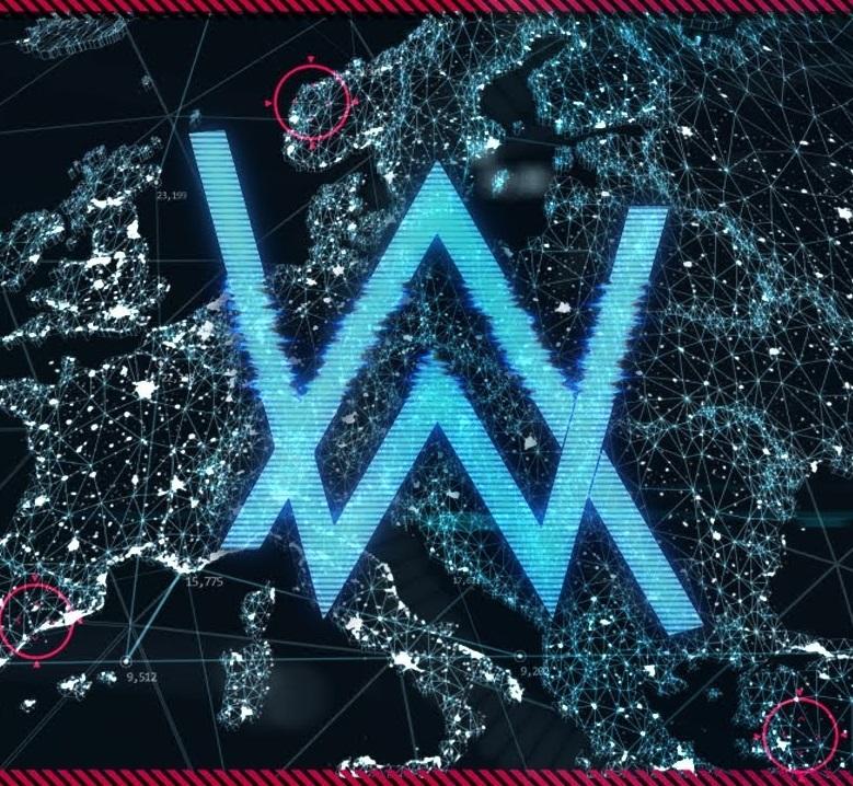 Alan walker world of walker stream logo edm identity alan walker world of walker stream logo stopboris Image collections