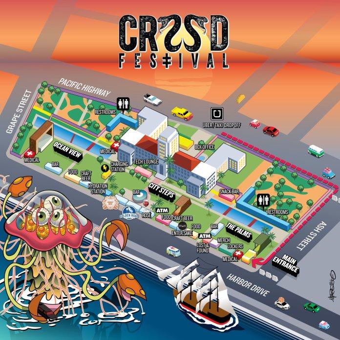 CRSSD Festival Spring 2018 Map