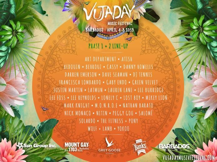 Vujaday Music Festival Lineup