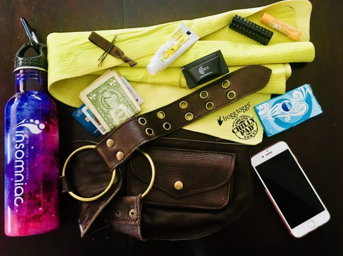 Erin's Minimalist Utility Belt - What to Pack in Your Festival Bag