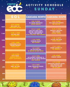 EDC Las Vegas 2018 - Camp EDC Schedule - Sunday