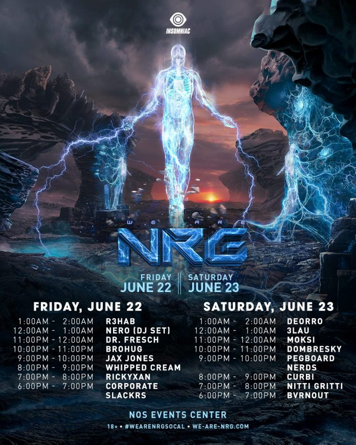 We Are NRG SoCal 2018 Set Times