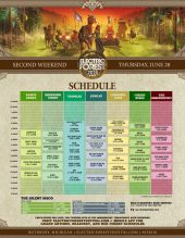 Electric Forest 2018 Wknd 2 Set Times Thursday