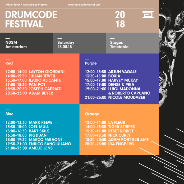 Drumcode Festival 2018 Full Lineup