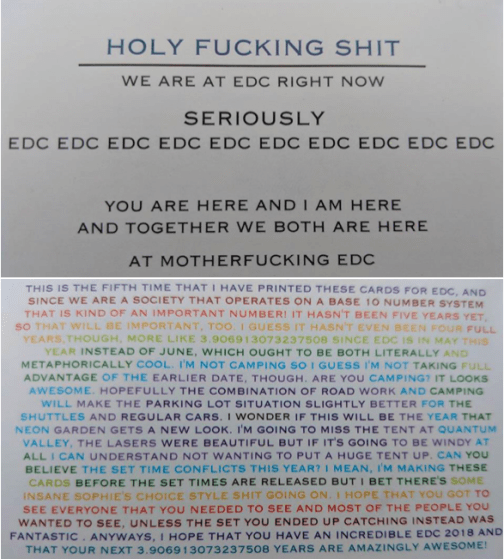 EDC 2018 Business Card Front & Back