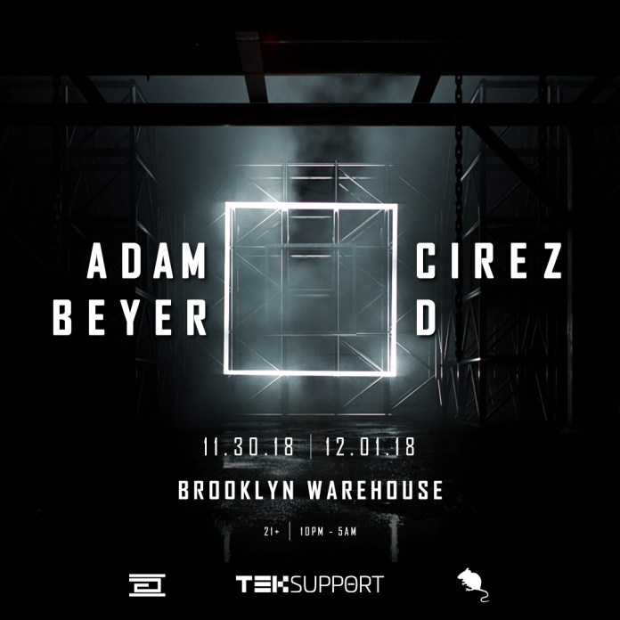 Adam Beyer x Cirez D New York Flyer