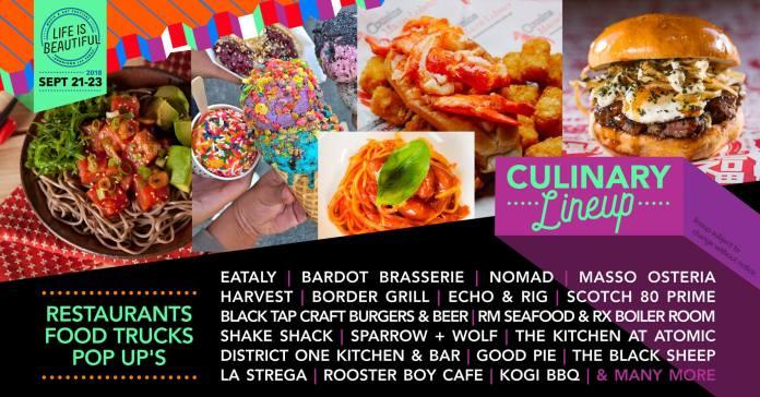 Life Is Beautiful 2018 Culinary Lineup