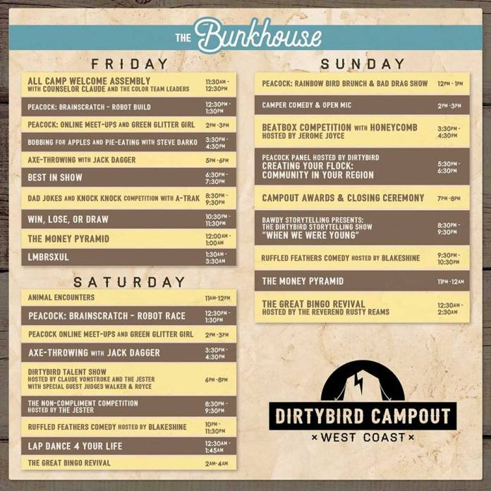 Dirtybird Campout West 2018 - The Bunkhouse