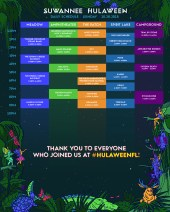 Suwannee Hulaween 2018 Set Times - Saturday
