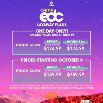 Camp EDC 2019 Moon Glow Layaway
