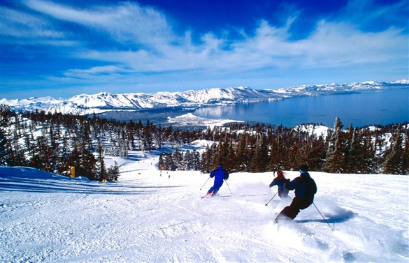 SnowGlobe Lake Tahoe skiing