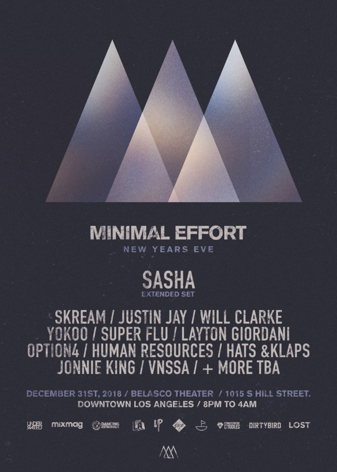 Minimal Effort New Year's Eve 2018 Phase 1 Lineup