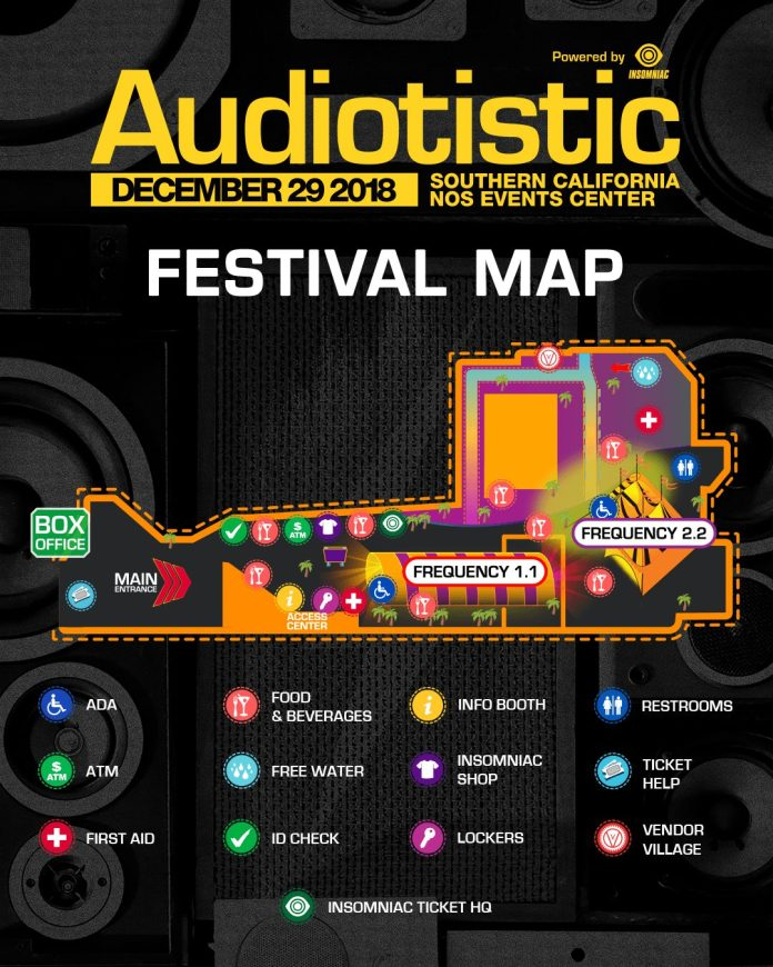 Audiotistic SoCal 2018 Festival Map
