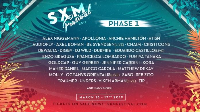 SXM Festival 2019 Phase 1 Lineup