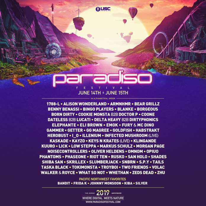 Paradiso Releases Their 2019 Festival Line Up & It's Stacked!