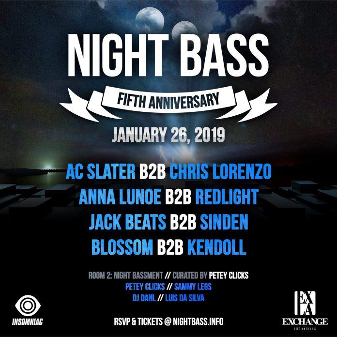 Night Bass 5th Year Anniversary Lineup