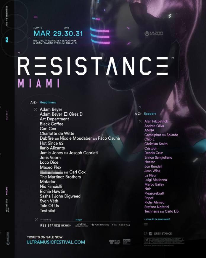 RESISTANCE Miami 2019 Lineup