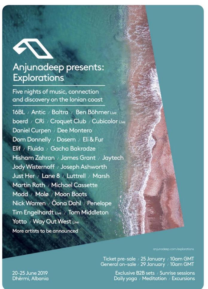 Anjunadeep presents: Explorations 2019 - Lineup