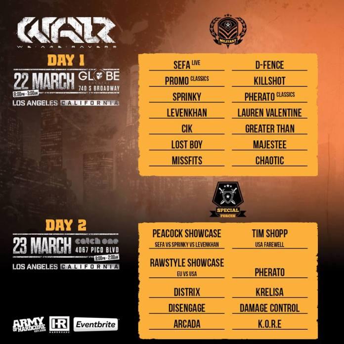 W.A.R. Festival Day Splits