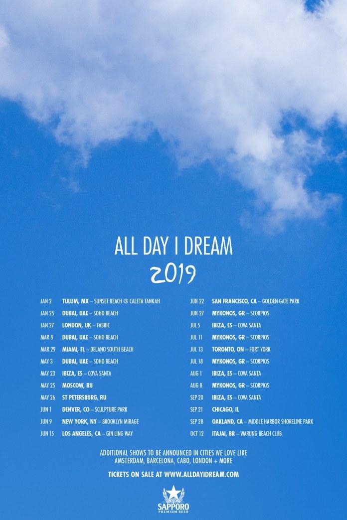 All Day I Dream 2019 World Tour