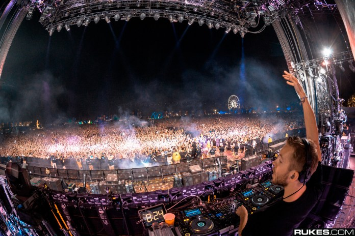 Calvin Harris at Coachella 2014