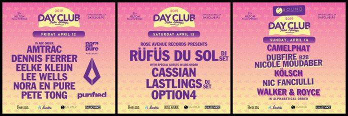 Day Club Palm Springs 2019 Lineup - Weekend 1
