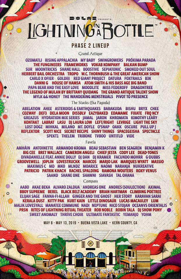 Image result for lightning in the bottle phase two lineup
