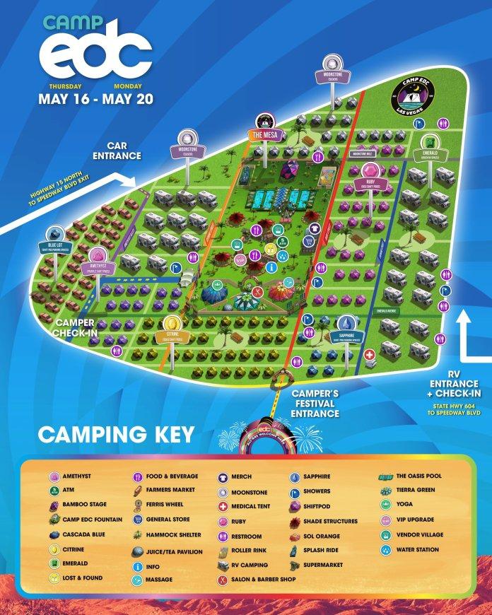 Camp EDC 2019 Map