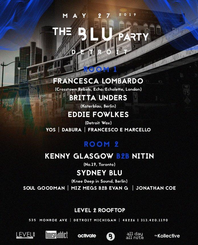 The Blu Party Detroit 2019 Lineup