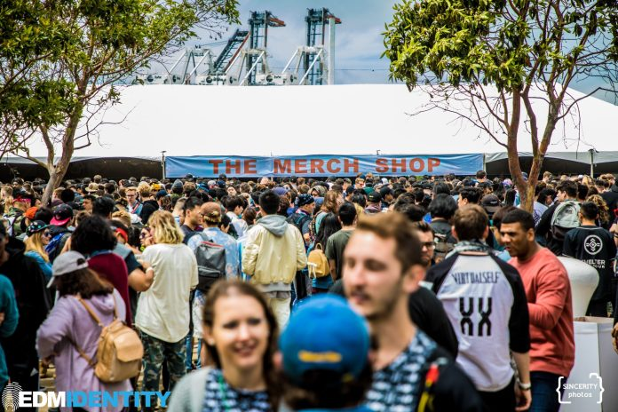 Second Sky Festival 2019 Merch Booth