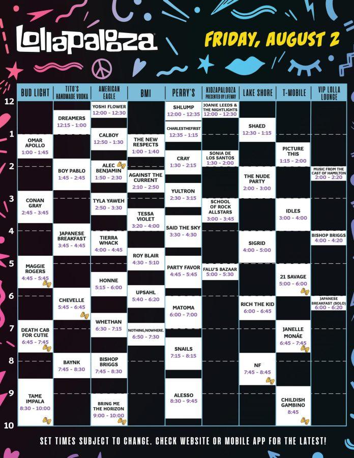 Lollapalooza Friday 2019
