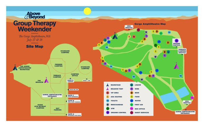 Group Therapy Weekender 2019 Map