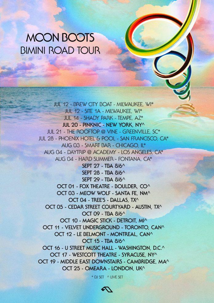 Moon Boots Bimini Road Tour Flyer