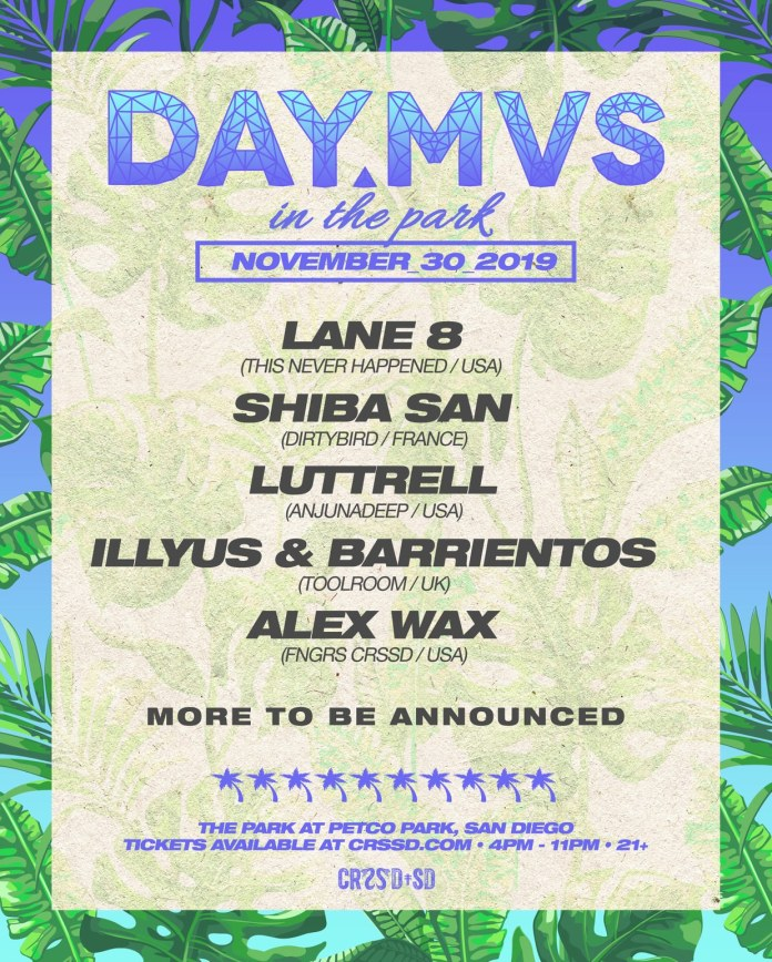 DAY MVS in the Park 2019 Phase 1 Lineup