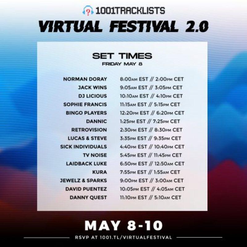 1001Tracklists Virtual Festival Schedule - Friday