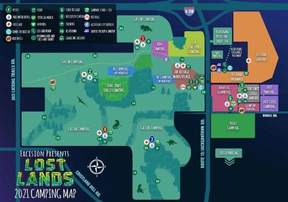 Lostlands 2021 camping map