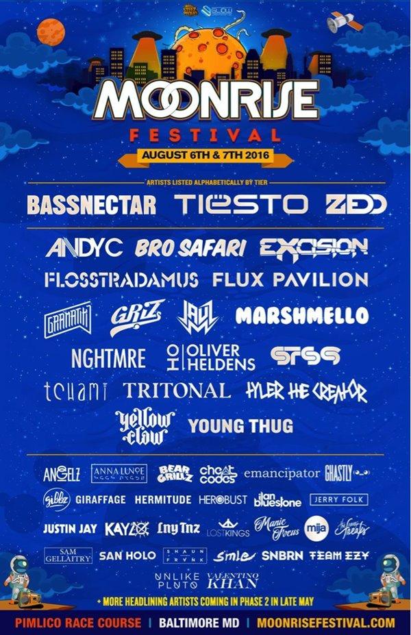 moonrise festival lineup